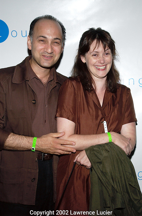 NEW YORK-SEPTEMBER 28: Actor Dan Eisenberg and his wife arrive at Joe Pantoliano's book launch at the GQ Lounge September 28, 2002, in New York City. The name of Pantoliano's book is Who's Sorry Now.