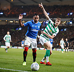 08.11.2019 League Cup Final, Rangers v Celtic: Alfredo Morelos and Kris Ajer
