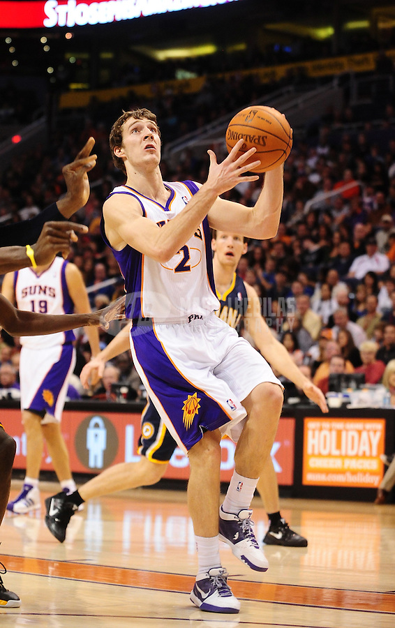 Dec. 3, 2010; Phoenix, AZ, USA; Phoenix Suns guard (2) Goran Dragic against the Indiana Pacers at the US Airways Center. The Suns defeated the Pacers 105-97. Mandatory Credit: Mark J. Rebilas-