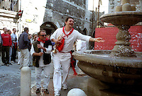 Gubbio 15 MAY 2004..Festival of the Ceri..The party before the run to the fountain of the Bargello....http://www.ceri.it/ceri_eng/index.htm..
