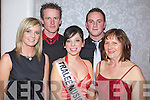 Brenda Leahy Contestant in the 2009 Kerry Rose Selection at the Earl of Desmond Hotel, Tralee on Saturday night with supporters from left Stephenie Driscoll, Barney Leahy Brenda Leahy Brian Greensmith and Phil Smith..