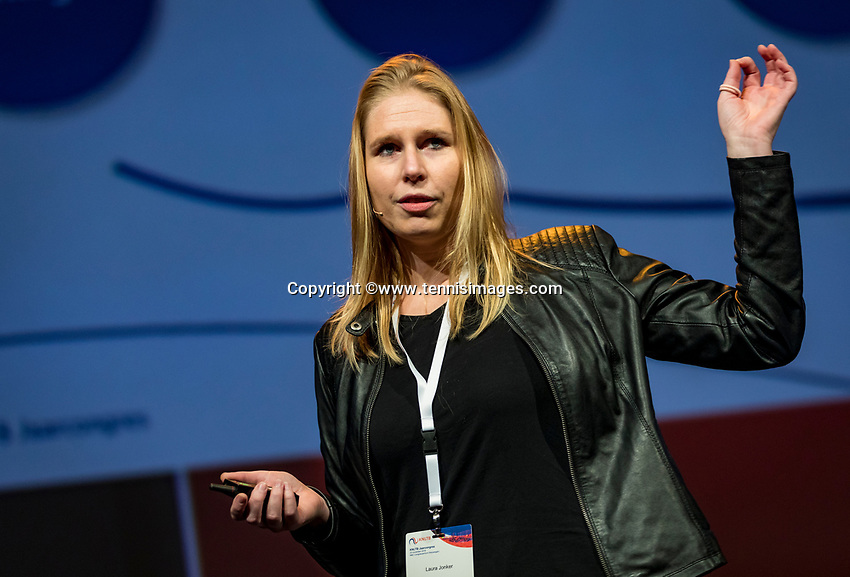 Nieuwegein, Netherlands, November 23,  2019, MBC Congrescentrum, KNLTB Year Congres , presentation Laura Jonker<br /> Photo: Tennisimages/Henk Koster