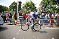Mathew Hayman (AUS/Orica-GreenEDGE) to the start<br /> <br /> 2014 Tour de France<br /> stage 3: Camebridge-London (155km)