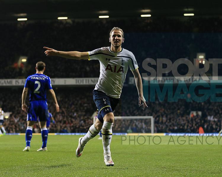 Tottenham's Harry Kane celebrates scoring his sides fourth goal<br /> <br /> Barclays Premier League - Tottenham Hotspur vs Chelsea - White Hart Lane  - England - 1st January 2015 - Picture David Klein/Sportimage