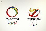 April 8, 2016, Tokyo, Japan - This is one of four candidate designs of  Tokyo2020 Olympic and Paralympic Games which are unveiled by the selection committee members in Tokyo on Friday, April 8, 2016. The committee will decide the final design from the 14,599 entry designs on April 25.  (Photo by Yoshio Tsunoda/AFLO) LWX -ytd-