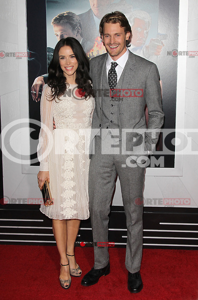 HOLLYWOOD, CA - JANUARY 07:  Abigail Spencer and Josh Pence at the Gangster Squad film premiere at Grauman's Chinese Theatre on January 7, 2013 in Hollywood, California. Credit: mpi27/MediaPunch Inc. /NortePhoto /NortePhoto /NortePhoto /NortePhoto