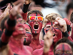 Florida State fans shout for their team against Virginia Tech during an NCAA college football game in Tallahassee, Fla., Monday, Sept. 3, 2018. Virginia Tech defeated Florida State 24-3.  (AP Photo/Mark Wallheiser)