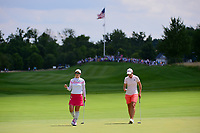Seon Woo Bae (KOR) after sinking her putt on 1 during Saturday's third round of the 72nd U.S. Women's Open Championship, at Trump National Golf Club, Bedminster, New Jersey. 7/15/2017.<br /> Picture: Golffile | Ken Murray<br /> <br /> <br /> All photo usage must carry mandatory copyright credit (&copy; Golffile | Ken Murray)