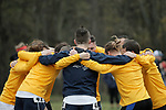 EVANSVILLE, IN - NOVEMBER 18: Augustana University teammates gather before the Division II Men's Cross Country Championship held at the Angel Mounds on November 18, 2017 in Evansville, Indiana. (Photo by Tim Broekema/NCAA Photos/NCAA Photos via Getty Images)