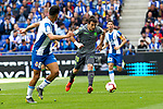 Real Sociedad's Mikel Oyarzabal and RCD Espanyol's Roberto Rosales  during La Liga match. May, 18th,2019. (ALTERPHOTOS/Alconada)