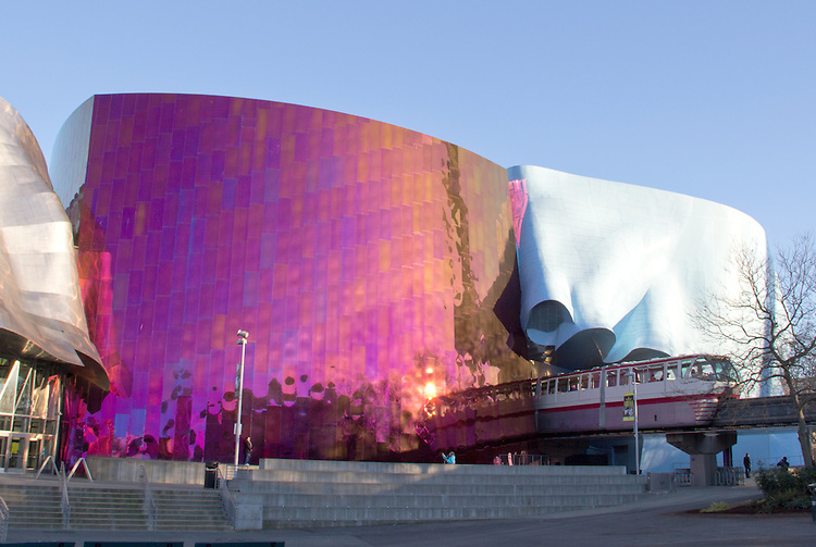 Seattle, Experience Music Project (the EMP) And Science Fiction Museum,  Monorail Train
