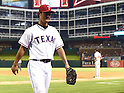 Yu Darvish (Rangers),<br /> AUGUST 30, 2013 - MLB :<br /> Yu Darvish of the Texas Rangers walks back to the dugout after being pulled in the seventh inning during the Major League Baseball game against the Minnesota Twins at Rangers Ballpark in Arlington in Arlington, Texas, United States. (Photo by AFLO)