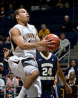 Justin Cobbs of California in action during the game against George Washington at Haas Pavilion in Berkeley, California on November 13th, 2011.  California defeated George Washington, 81-54.