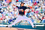 13 March 2010: Atlanta Braves' pitcher Jesse Chavez in action during a Spring Training game against the Toronto Blue Jays at Champion Stadium in the ESPN Wide World of Sports Complex in Orlando, Florida. The Blue Jays shut out the Braves 3-0 in Grapefruit League action. Mandatory Credit: Ed Wolfstein Photo