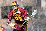 Los Angeles, CA 02/20/10 - Macklen Lethin (USC # 29) in action during the USC-Loyola Marymount University MCLA/SLC divisional game at Leavey Field (LMU).  LMU defeated USC 10-7.