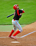 7 July 2008: Batavia Muckdogs' infielder Colt Sedbrook in action against the Vermont Lake Monsters at Centennial Field in Burlington, Vermont. The Lake Monsters defeated the Muckdogs 3-2 in the final game of their 3-game series...Mandatory Photo Credit: Ed Wolfstein Photo