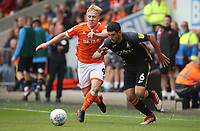 Blackpool's Mark Cullen and Bradford Bradford City's Anthony O'Connor<br /> <br /> Photographer Rachel Holborn/CameraSport<br /> <br /> The EFL Sky Bet League One - Blackpool v Bradford City - Saturday September 8th 2018 - Bloomfield Road - Blackpool<br /> <br /> World Copyright &copy; 2018 CameraSport. All rights reserved. 43 Linden Ave. Countesthorpe. Leicester. England. LE8 5PG - Tel: +44 (0) 116 277 4147 - admin@camerasport.com - www.camerasport.com