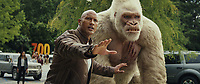 Rampage (2018)   <br /> DWAYNE JOHNSON as Davis Okoye and JASON LILES as George<br /> *Filmstill - Editorial Use Only*<br /> CAP/MFS<br /> Image supplied by Capital Pictures