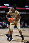 Tyra Whitehead (42) of the Wake Forest Demon Deacons drives to the basket during second half action against the Notre Dame Fighting Irish at the LJVM Coliseum on December 31, 2017 in Winston-Salem, North Carolina.  The Fighting Irish defeated the Demon Deacons 96-73.  (Brian Westerholt/Sports On Film)