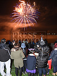 Watching the fireworks in St.Mary's GFC Ardee. Photo:Colin Bell/pressphotos.ie
