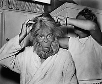 Planet of the Apes (1968) <br /> Behind the scenes photo of Maurice Evans<br /> *Filmstill - Editorial Use Only*<br /> CAP/KFS<br /> Image supplied by Capital Pictures