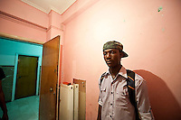 Athens Somali refugee house. 10-6-06 The 2 bedroom house in Filis street was occupied by 8 Somali men and 6 Somali women. All of them were refugees from their war torn country. The house had been attacked by racists who threw bricks through the bedroon windows at night.