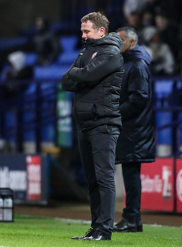 Bolton Wanderers' manager Phil Parkinson<br /> <br /> Photographer Andrew Kearns/CameraSport<br /> <br /> The EFL Sky Bet Championship - Bolton Wanderers v Reading - Tuesday 29th January 2019 - University of Bolton Stadium - Bolton<br /> <br /> World Copyright © 2019 CameraSport. All rights reserved. 43 Linden Ave. Countesthorpe. Leicester. England. LE8 5PG - Tel: +44 (0) 116 277 4147 - admin@camerasport.com - www.camerasport.com