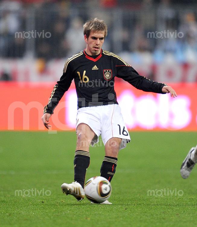 Fussball International, Deutsche Nationalmannschaft  Deutscher Fussballbund, Deutschland - Argentinien 03.03.2010 Philipp Lahm (GER)