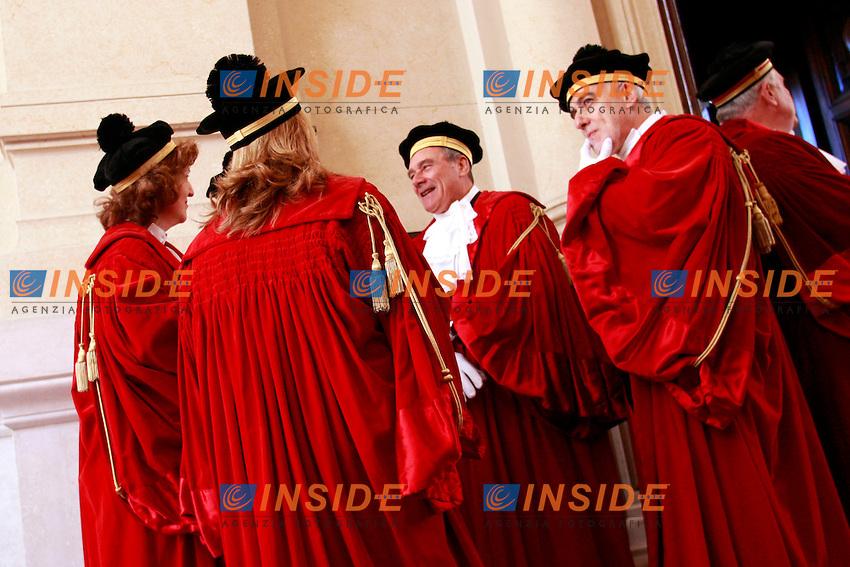 MAGISTRATI IN TOGA.Roma 26/01/2012 Palazzo di Grazia e Giustizia. Inaugurazione dell'Anno Giudiziario della Suprema Corte di Cassazione..Photo Samantha Zucchi Insidefoto