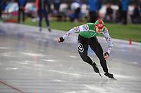 SPEED SKATING: HAMAR: Viking Skipet, 03-02-2019, ISU World Cup Speed Skating, Artiom Chaban (BLR), ©photo Martin de Jong