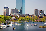 Springtime on the Charles River Esplanade, Back Bay, Boston, MA