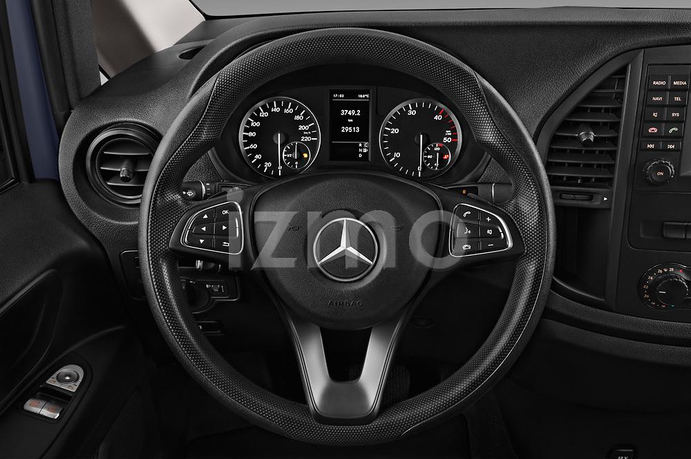 Car pictures of steering wheel view of a 2017 Mercedes Benz Vito-Tourer Pro 4 Door Combi Steering Wheel