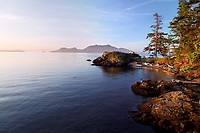 Sea kayakers camp on Doe Island, San Juan Islands, Washington State, USA