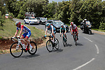 4 man early breakaway including Mickael Delage (FRA) Groupama-FDJ, Daniel Turek (Cze) Israel Cycling Academy and Loic Chetout (FRA) Cofidis Solutions Credits during Stage 1 of the Route d'Occitanie 2019, running 175.5km from Gignac-Vallée de l'Hérault to Saint-Geniez-d'Olt-et-d'Aubrac , France. 20th June 2019<br /> Picture: Colin Flockton | Cyclefile<br /> All photos usage must carry mandatory copyright credit (© Cyclefile | Colin Flockton)