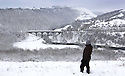 21/01/13<br /> <br /> After heavy overnight snow, walkers brave the snow at Monsal Head, in The Peak District, near Bakewell, Derbyshire. <br /> <br /> All Rights Reserved - F Stop Press.  www.fstoppress.com. Tel: +44 (0)1335 300098.