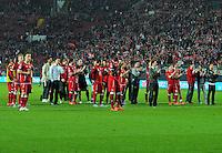 FUSSBALL 1. BUNDESLIGA   SAISON   2012/2013: RELEGATION   RUECKSPIEL 1. FC Kaiserslautern - TSG 1899 Hoffenheim         27.05.2013 Die Mannschaft des 1. FC Kaiserslautern ist nach dem Abpfiff enttaeuscht
