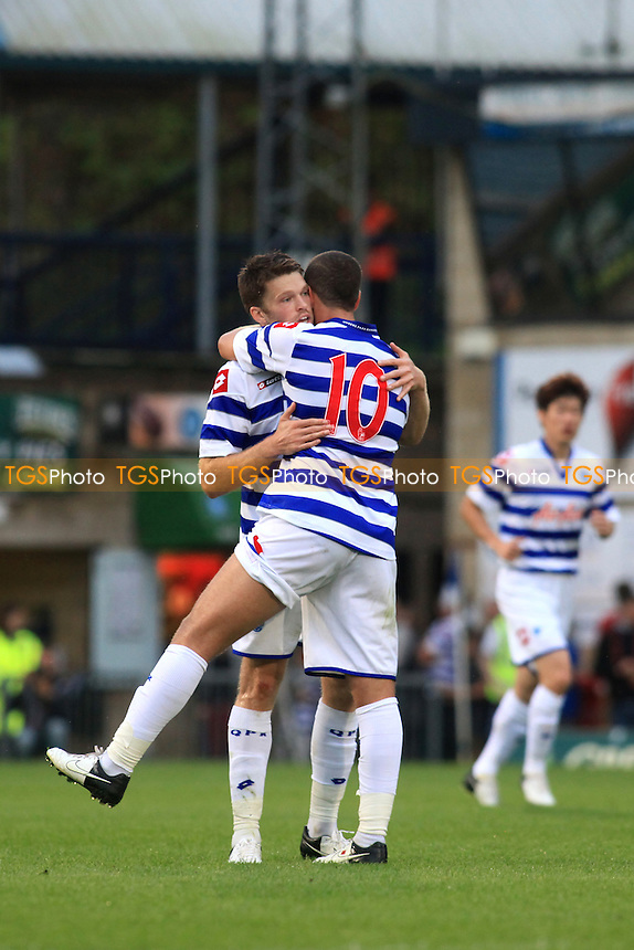 Jamie Mackie celebrates his opening goal for QPR with Adel Taarabt - Wycombe Wanderers vs QPR- Friendly Football Match at Adams Park, High Wycombe, Buckinghamshire - 31/07/12 - MANDATORY CREDIT: Paul Dennis/TGSPHOTO - Self billing applies where appropriate - 0845 094 6026 - contact@tgsphoto.co.uk - NO UNPAID USE.