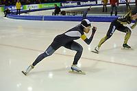 SCHAATSEN: HEERENVEEN: 14-12-2014, IJsstadion Thialf, ISU World Cup Speedskating, Sang-Hwa Lee (KOR), ©foto Martin de Jong