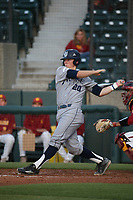 Matt Reitano (20) of the UC Irvine Anteaters bats during a game against the Southern California Trojans at Dedeaux Field on April 18, 2017 in Los Angeles, California. UC Irvine defeated Southern California, 14-3. (Larry Goren/Four Seam Images)