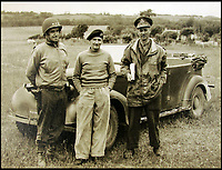 BNPS.co.uk (01202 558833)<br /> Pic: BNPS<br /> <br /> Montgomery and Bradley with Gen Sir Miles Dempsey (right) in discussion in a field somewhere in Normandy<br /> <br /> Fascinating maps issued to a leading Allied commander on D-Day to inform him of the location of British, US, and German forces during the Normandy landings have been unearthed after 73 years.<br /> <br /> US General Omar Bradley was given the maps at 2400 each night to get an up to date picture of the progress of Operation Overlord - the Allied invasion of France.<br /> <br /> On D-Day Bradley commanded 3 Corp directed against Utah and Omaha beaches. He subsequently planned Operation Cobra, the breakout from the Normandy beachhead. <br /> <br /> Bradley used the maps - which have emerged for auction - to help formulate a daily plan of action as the Allied forces sought to gain a foothold in northern France.<br /> <br /> The maps date from June 6, 1944 - the day of the Normandy landings - June 7 and June 8 and reveal the state of affairs at midnight each day.