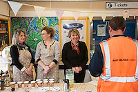 'A Spotter Tea' pop-up cafe - from left are Nichola Hoskins, Caroline Andruskevivius and owner Kathryn Keeling
