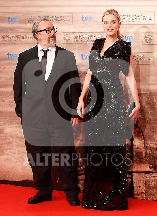 Spanish film director Alex de la Iglesia (l) and actress Carolina Bang during the 59th San Sebastian Donostia International Film Festival - Zinemaldia.September 24,2011.(ALTERPHOTOS/ALFAQUI/Acero)