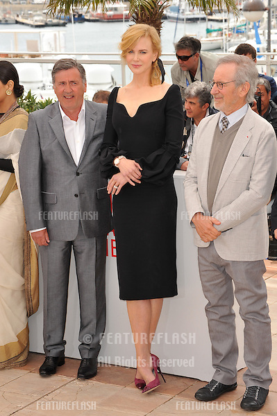 Daniel Auteuil (left), Nicole Kidman & Steven Spielberg at the photocall for the Jury of the 66th Festival de Cannes..May 15, 2013  Cannes, France.Picture: Paul Smith / Featureflash