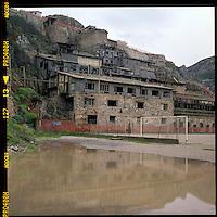 Italia, Sardegna, Sulcis.<br /> Miniera abbandonata di Buggerru.<br /> Italy, Sardinia, Sulcis.<br /> Buggerru's abandonment mine.