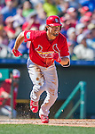 6 March 2016: St. Louis Cardinals outfielder Randal Grichuk in action during a Spring Training pre-season game against the Washington Nationals at Roger Dean Stadium in Jupiter, Florida. The Nationals defeated the Cardinals 5-2 in Grapefruit League play. Mandatory Credit: Ed Wolfstein Photo *** RAW (NEF) Image File Available ***