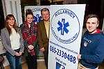 Damian Baker right  Scheme co-ordinator launching the Kilarney Cardiac Response Unit in the Underground restaurant Killarney on Thursday with Eilish Coffey Secretary, Aisling Coffey responder and Mike Marshall Com officer