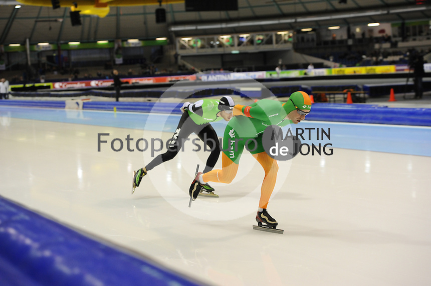 SCHAATSEN: HEERENVEEN: 26-12-2013, IJsstadion Thialf, KNSB Kwalificatie Toernooi (KKT), 5000m, Christijn Groeneveld, Bob de Jong, ©foto Martin de Jong