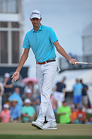 Chesson Hadley (USA) reacts to his putt on 18 during round 4 of the Houston Open, Golf Club of Houston, Houston, Texas. 4/1/2018.<br /> Picture: Golffile | Ken Murray<br /> <br /> <br /> All photo usage must carry mandatory copyright credit (&copy; Golffile | Ken Murray)