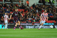 George Byers of Swansea City in action during the Sky Bet Championship match between Stoke City and Swansea City at the Bet 365 Stadium in Stoke on Trent, England, UK. Tuesday 18 September 2018