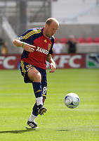 Real Salt Lake Midfielder Clint Mathis (84) in the Real Salt Lake 3-1 win over Austin Aztex, March 21, 2009 at Rio Tinto Stadium in Sandy, Utah.